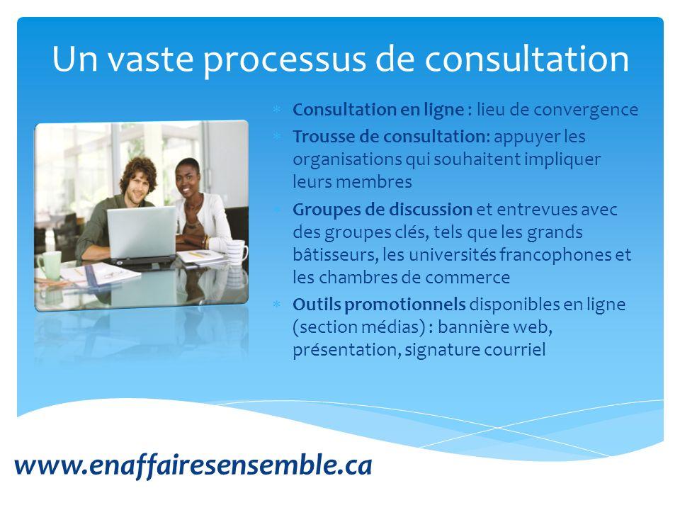 Consultation en ligne : lieu de convergence Trousse de consultation: appuyer les organisations qui souhaitent impliquer leurs membres Groupes de discu