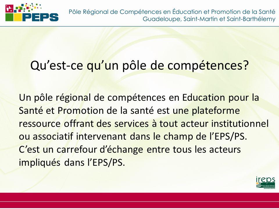 Quest-ce quun pôle de compétences? Un pôle régional de compétences en Education pour la Santé et Promotion de la santé est une plateforme ressource of