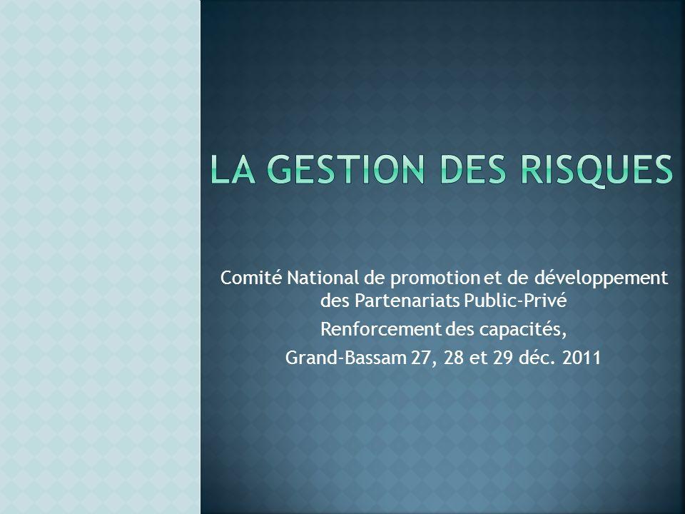 Comité National de promotion et de développement des Partenariats Public-Privé Renforcement des capacités, Grand-Bassam 27, 28 et 29 déc. 2011