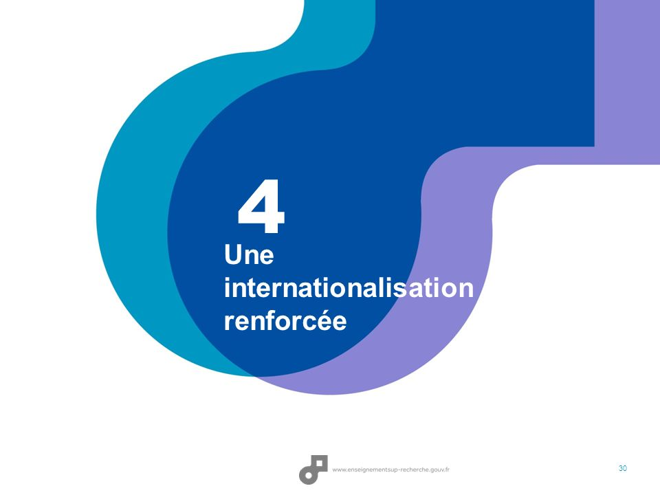 Une internationalisation renforcée 4 30