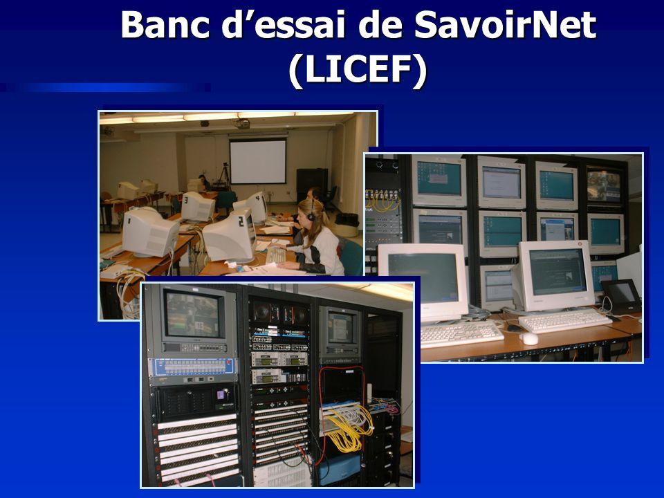 Banc dessai de SavoirNet (LICEF)