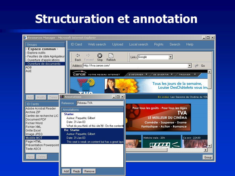Structuration et annotation