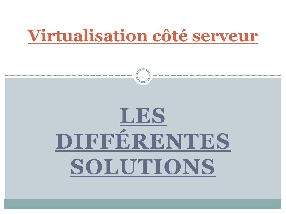 Sommaire Introduction Les différents acteurs du marché : - VMware - Citrix - Microsoft Hyper-V - Oracle VM Server - Redhat Conclusion 2