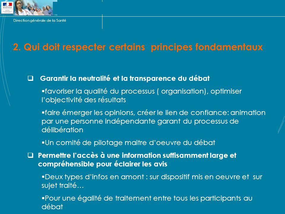 Direction générale de la Santé 2.