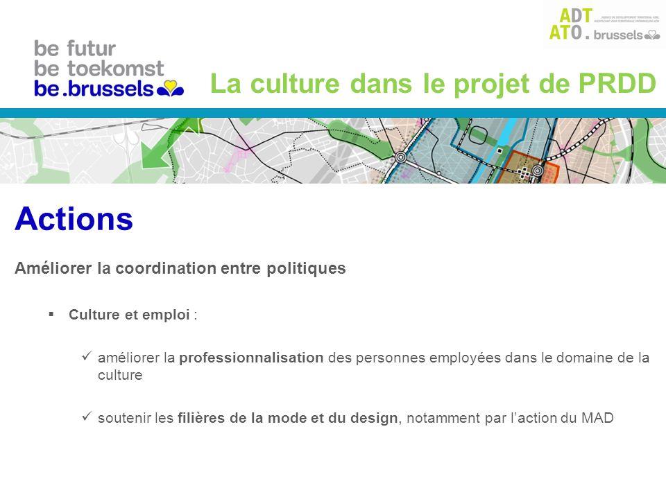 Améliorer la coordination entre politiques Culture et emploi : améliorer la professionnalisation des personnes employées dans le domaine de la culture