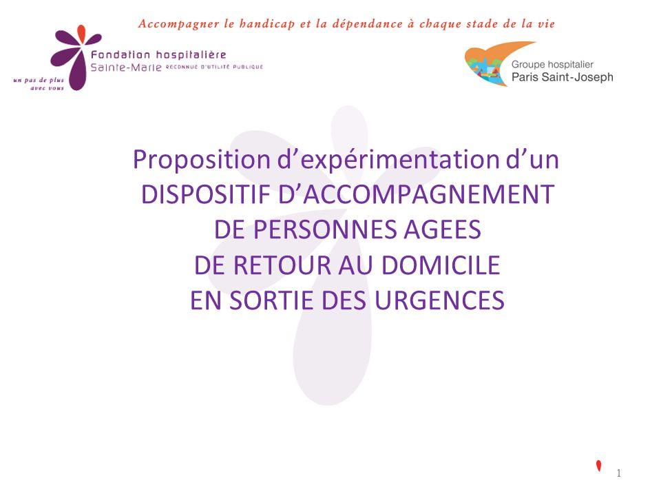 11 Proposition dexpérimentation dun DISPOSITIF DACCOMPAGNEMENT DE PERSONNES AGEES DE RETOUR AU DOMICILE EN SORTIE DES URGENCES