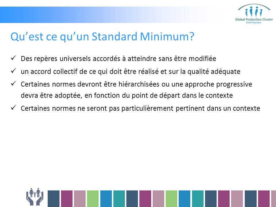Quest ce quun Standard Minimum.