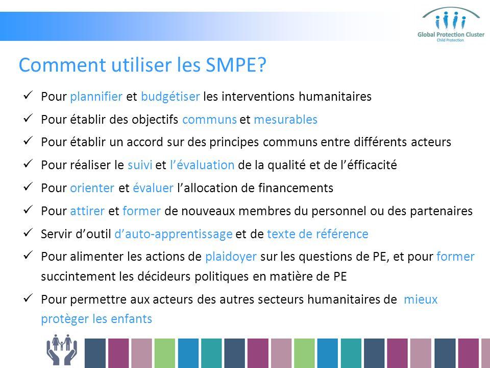 Comment utiliser les SMPE.