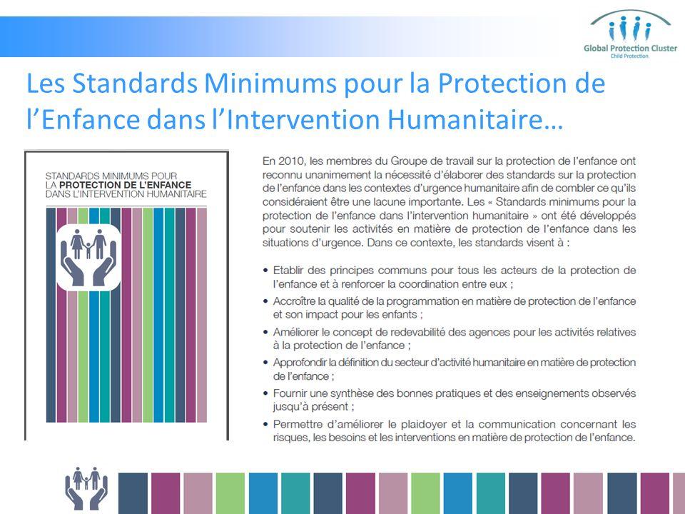 Les Standards Minimums pour la Protection de lEnfance dans lIntervention Humanitaire…