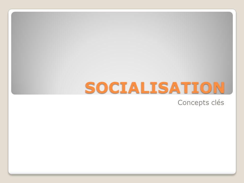 SOCIALISATION Concepts clés