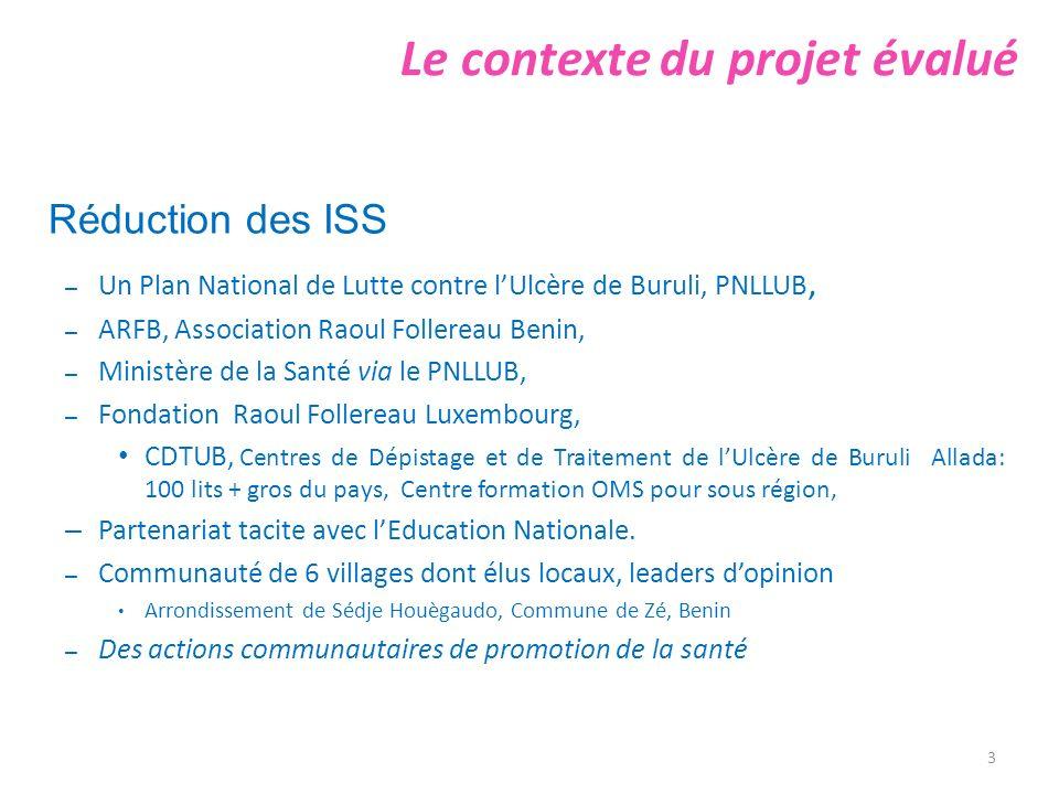 Résultats des 20 auditions et visites sur le terrain Indicateur 6: Suivi du projet Suivi épidémiologique à mi-parcours, Evolution des cas UB à Sedje Houegoudo.