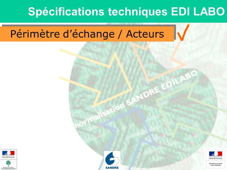Périmètre déchange / Acteurs Spécifications techniques EDI LABO