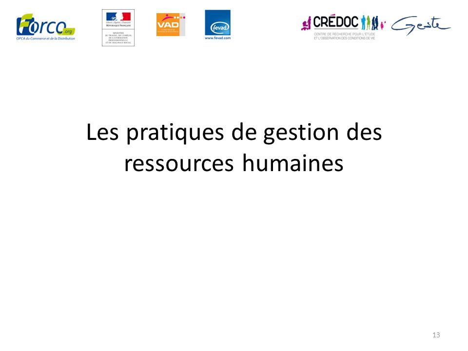 Les pratiques de gestion des ressources humaines 13