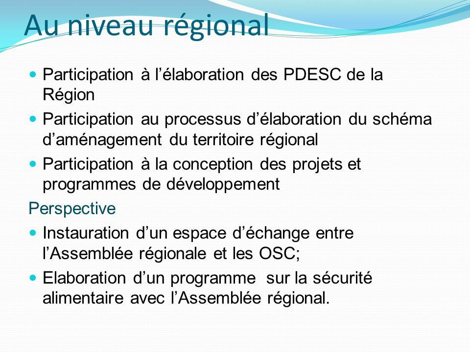 Quelques défis Amener les OSC aux différents niveaux à participer de manière active à lorientation du développement, Amener les OSC aux différents niveaux aux espaces publics de compte rendus Amener les élus aux différents niveaux à rendre compte de leur gestion des affaires publiques