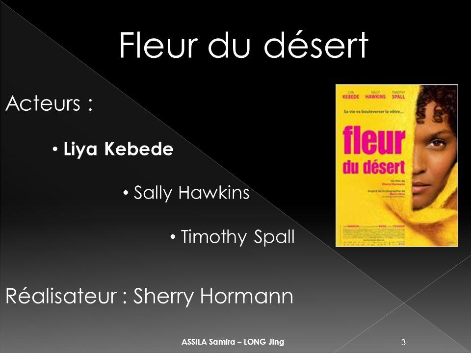 3 ASSILA Samira – LONG Jing Fleur du désert Acteurs : Liya Kebede Sally Hawkins Timothy Spall Réalisateur : Sherry Hormann
