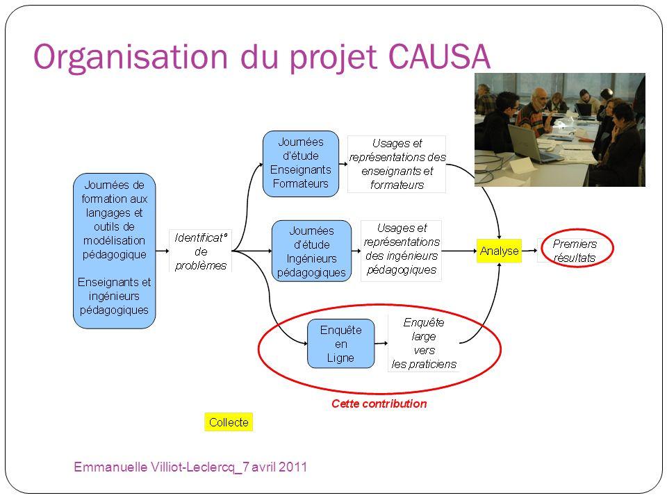 Organisation du projet CAUSA Emmanuelle Villiot-Leclercq_7 avril 2011