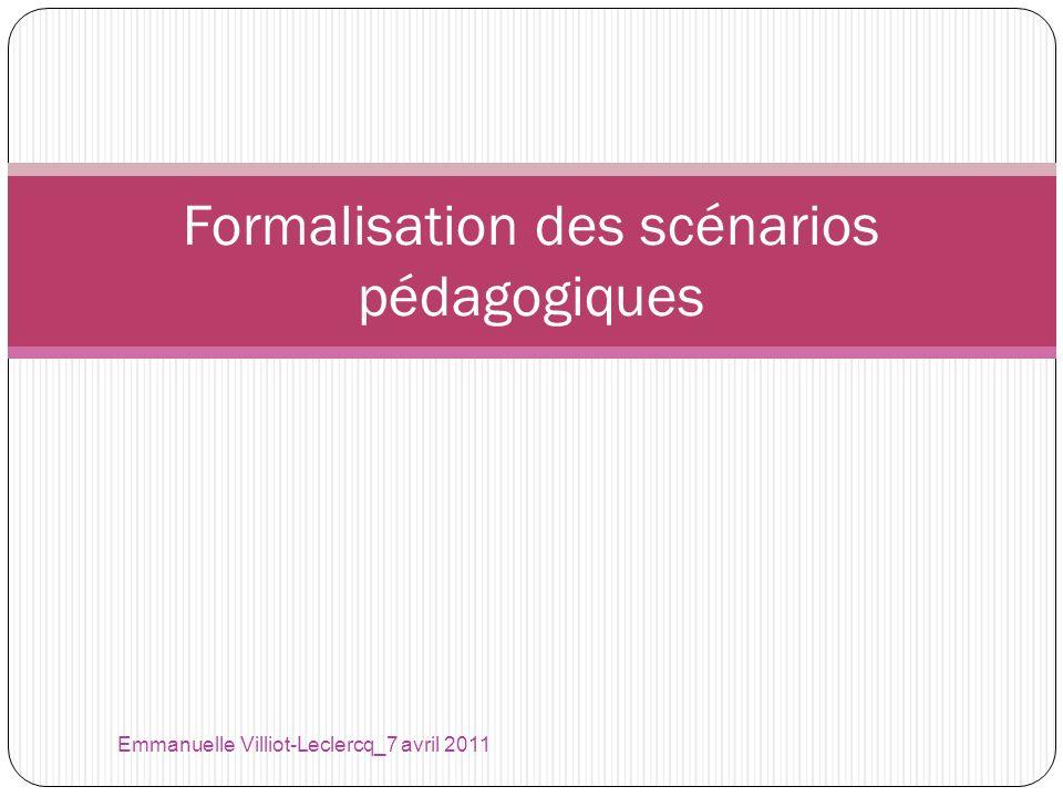 Formalisation des scénarios pédagogiques