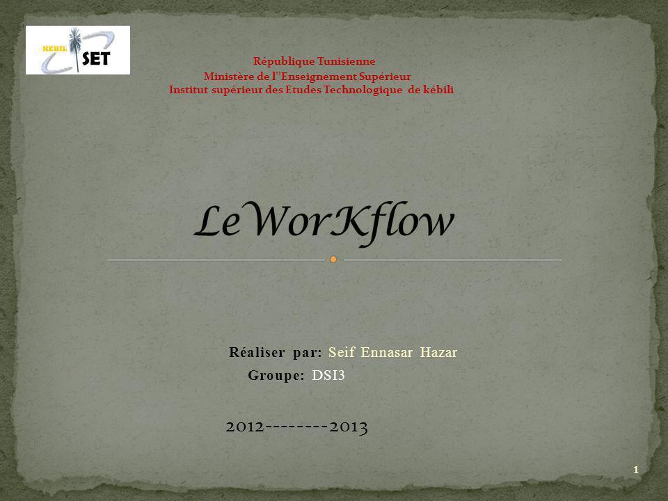 Introduction: Présentation de loutil Workflow: I.Historique: II.