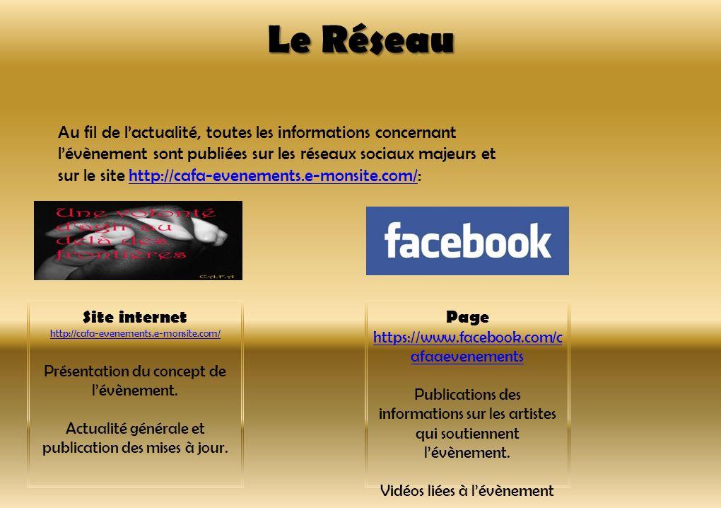 Le Réseau Au fil de lactualité, toutes les informations concernant lévènement sont publiées sur les réseaux sociaux majeurs et sur le site http://cafa
