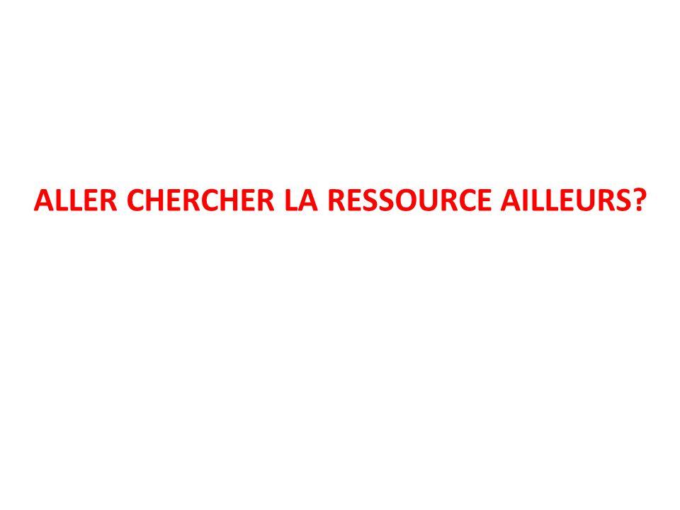 ALLER CHERCHER LA RESSOURCE AILLEURS?
