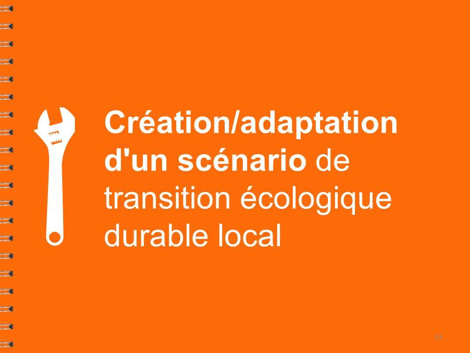 Création/adaptation d un scénario de transition écologique durable local 24
