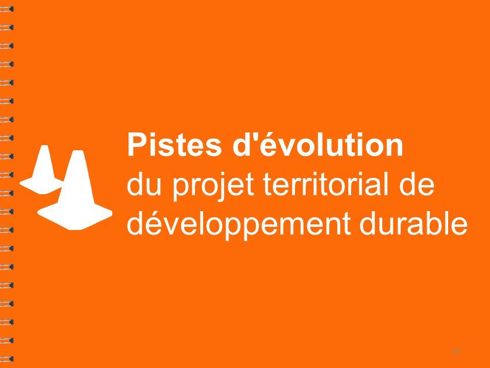 Pistes d évolution du projet territorial de développement durable 33