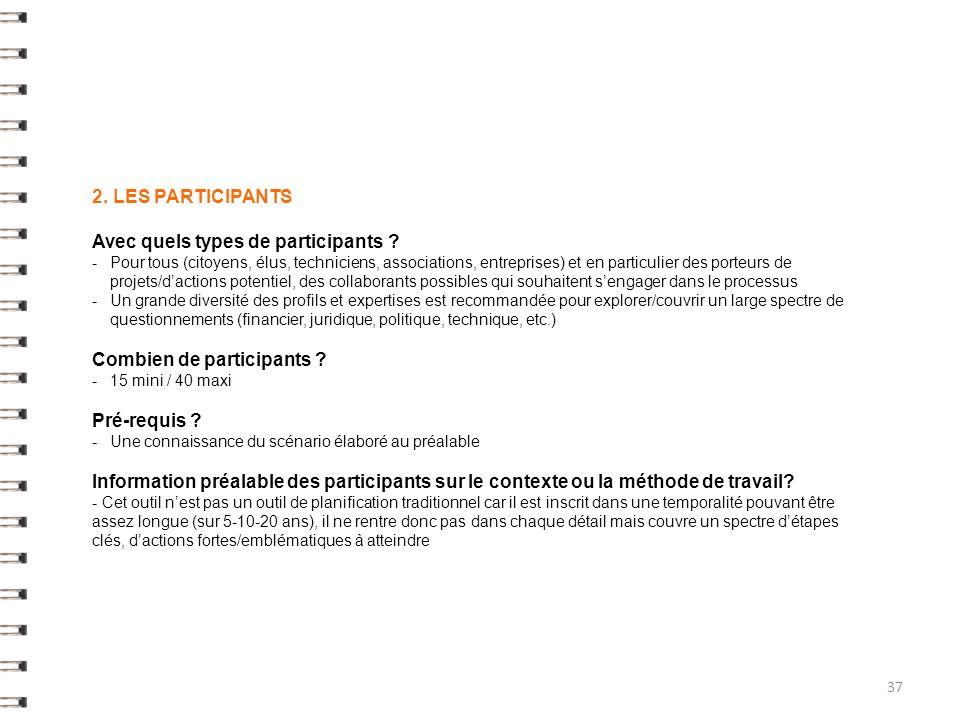 2.LES PARTICIPANTS Avec quels types de participants .