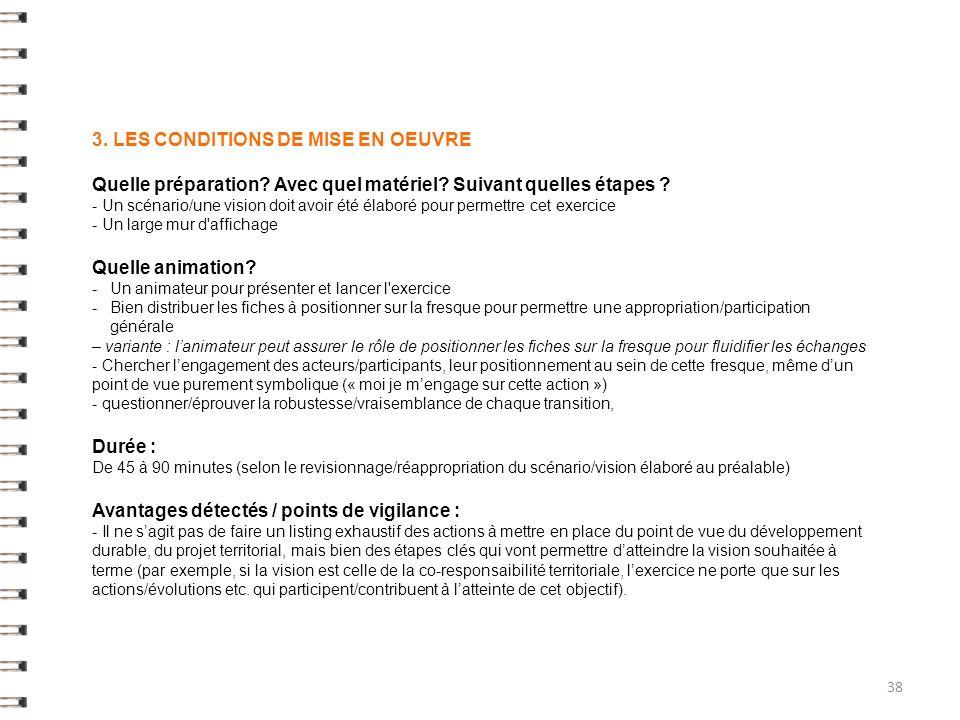 3.LES CONDITIONS DE MISE EN OEUVRE Quelle préparation.