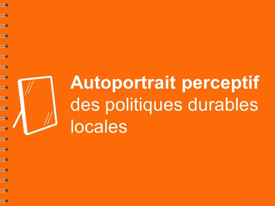 Autoportrait perceptif des politiques durables locales 41