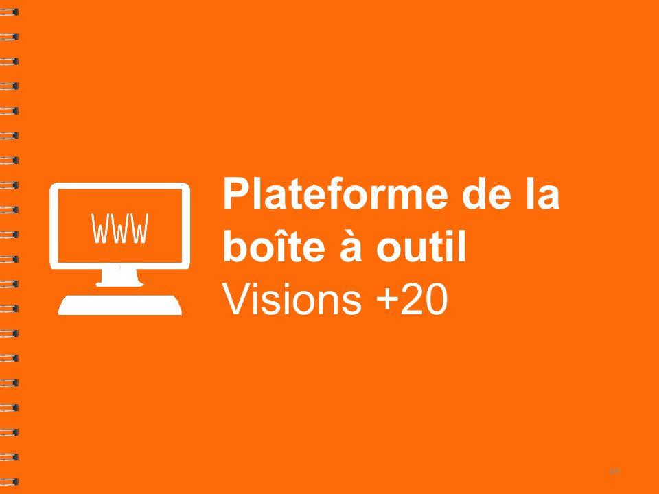Plateforme de la boîte à outil Visions +20 49