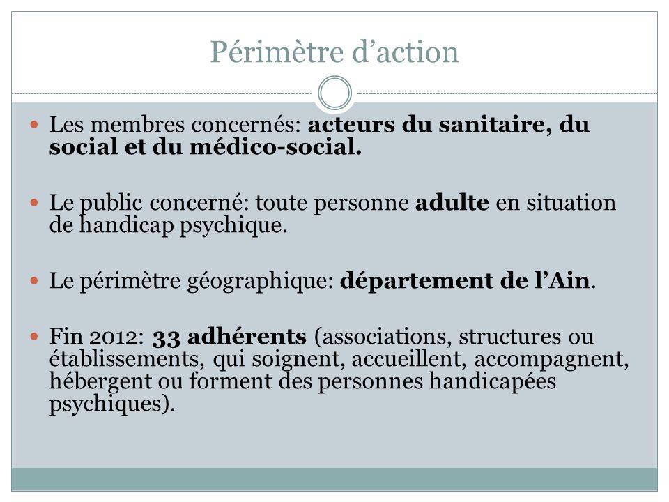 Périmètre daction Les membres concernés: acteurs du sanitaire, du social et du médico-social. Le public concerné: toute personne adulte en situation d