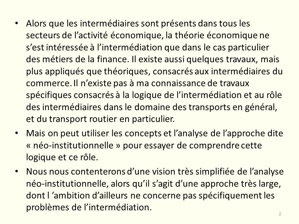 Faire ou faire faire dans le secteur des transports Le premier travail que nous pouvons citer qui utilise lapproche néo-institutionnelle dans le secteur des transports est la thèse de Lionnel Grand (« Les relations de sous-traitance dans le secteur des transports routiers de marchandises » - Lyon, 1997).