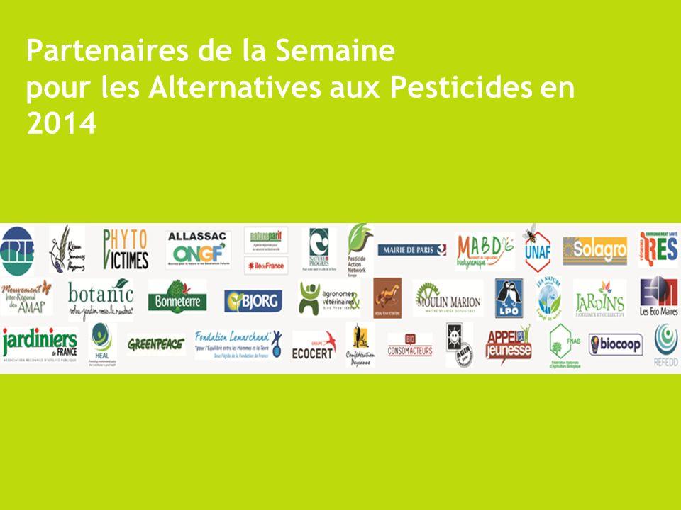 Partenaires de la Semaine pour les Alternatives aux Pesticides en 2014