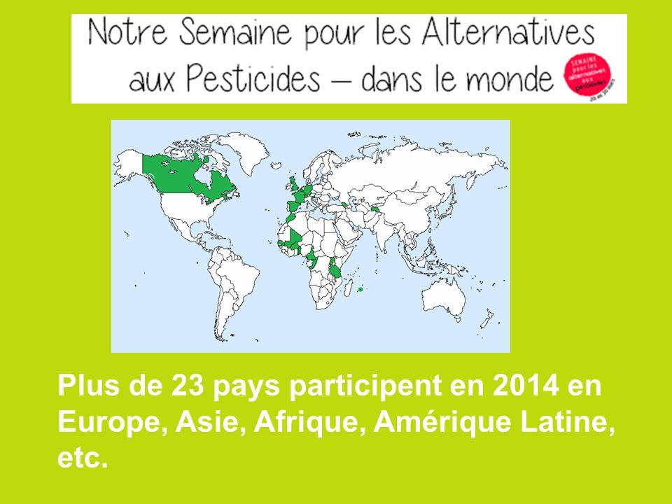 Plus de 23 pays participent en 2014 en Europe, Asie, Afrique, Amérique Latine, etc.