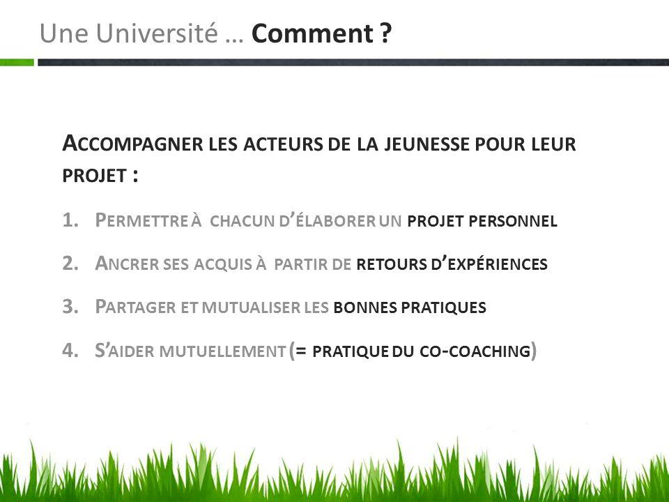 Une Université … Comment .