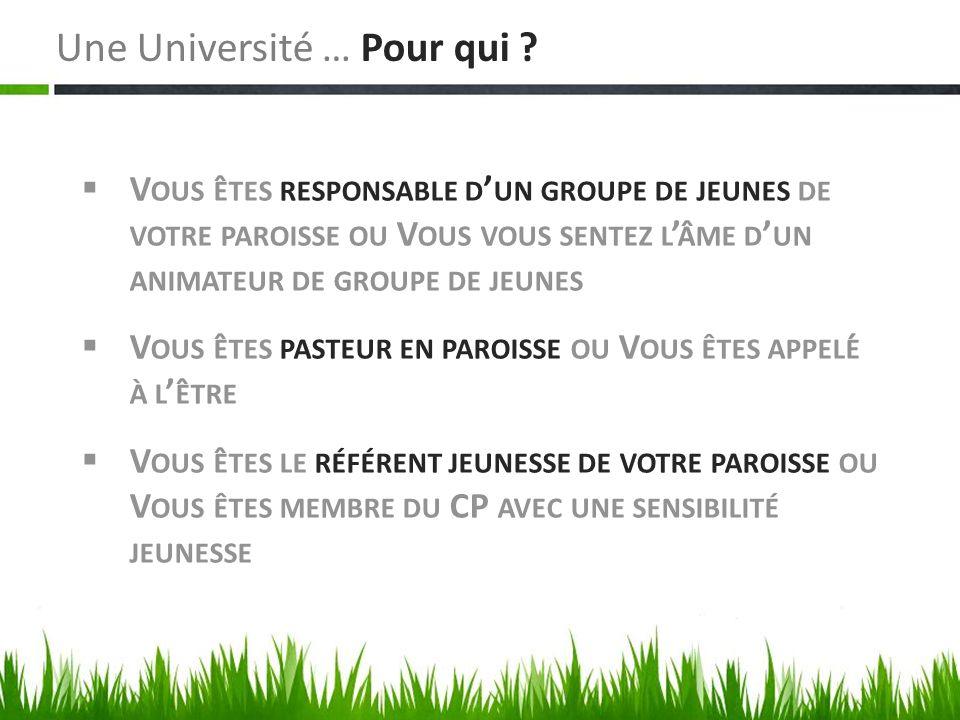 Une Université … Pour qui .