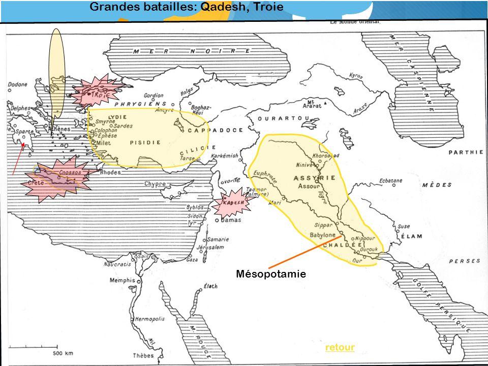 retour Grandes batailles: Qadesh, Troie Mésopotamie