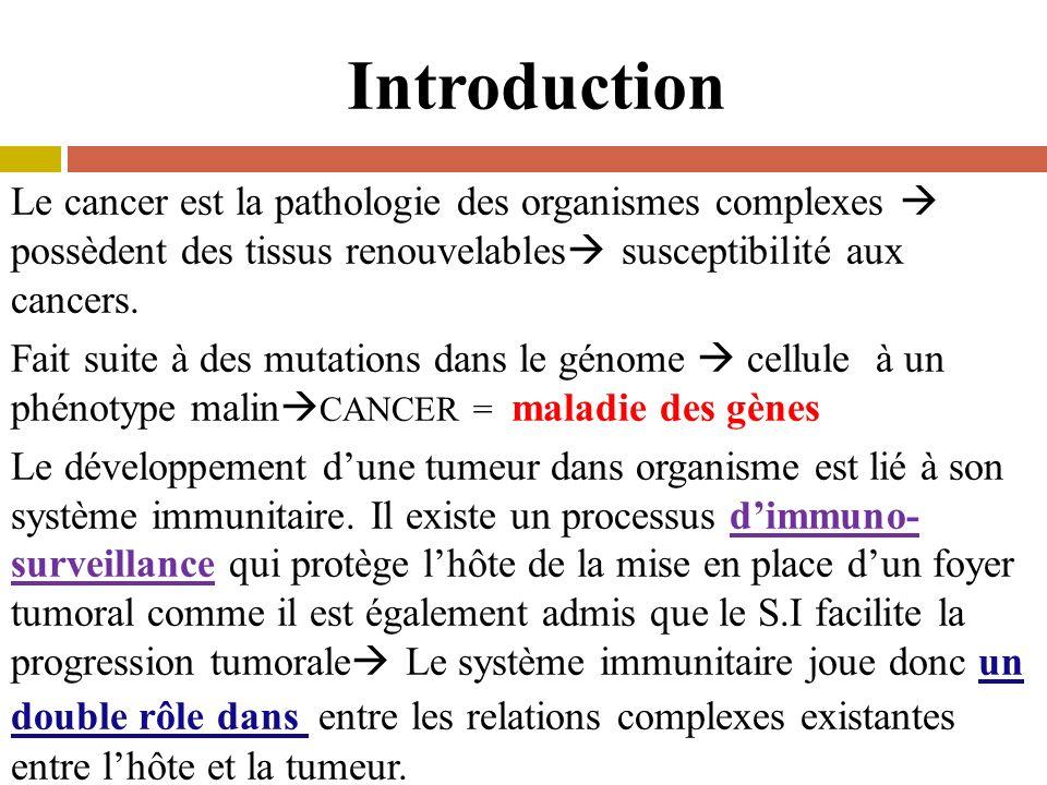 Le cancer est la pathologie des organismes complexes possèdent des tissus renouvelables susceptibilité aux cancers.
