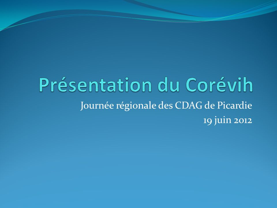 Journée régionale des CDAG de Picardie 19 juin 2012