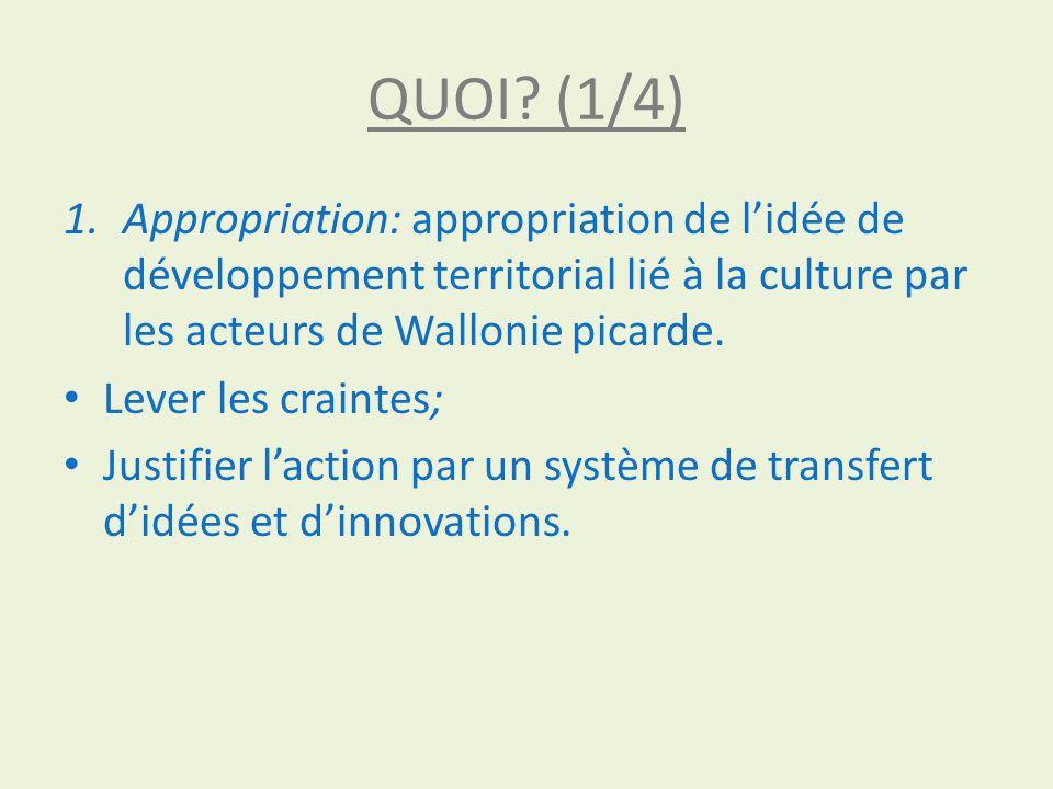 QUOI.(2/4) 2. Création: création dune économie locale de TPE et PME dans la culture.