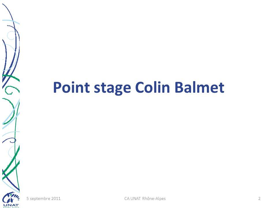 Point stage Colin Balmet 5 septembre 2011CA UNAT Rhône-Alpes2