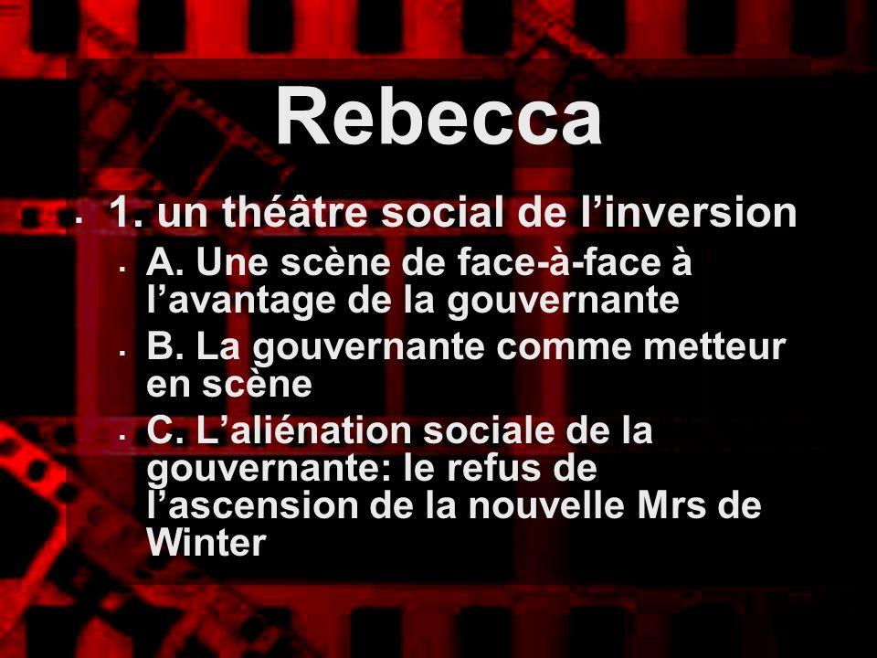 1. un théâtre social de linversion A. Une scène de face-à-face à lavantage de la gouvernante B. La gouvernante comme metteur en scène C. Laliénation s