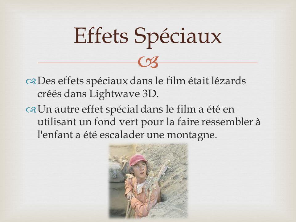 Des effets spéciaux dans le film était lézards créés dans Lightwave 3D.