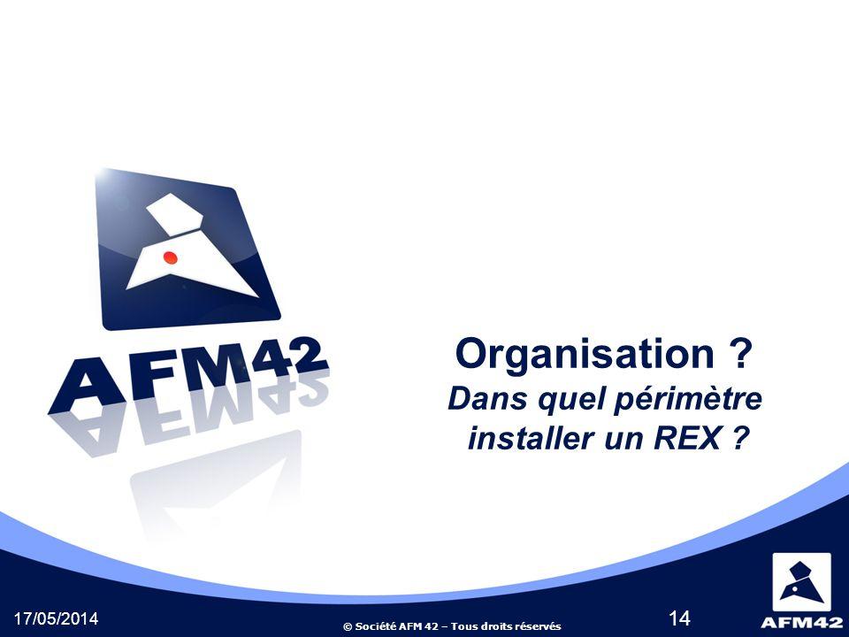 © Société AFM 42 – Tous droits réservés 17/05/2014 14 Organisation .
