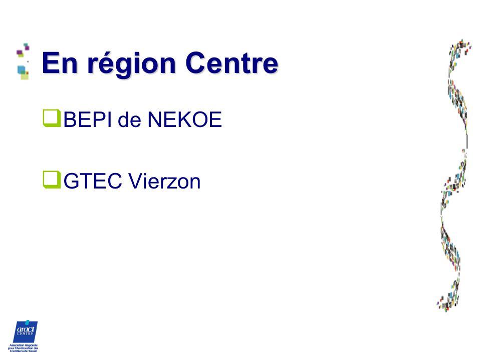 En région Centre BEPI de NEKOE GTEC Vierzon