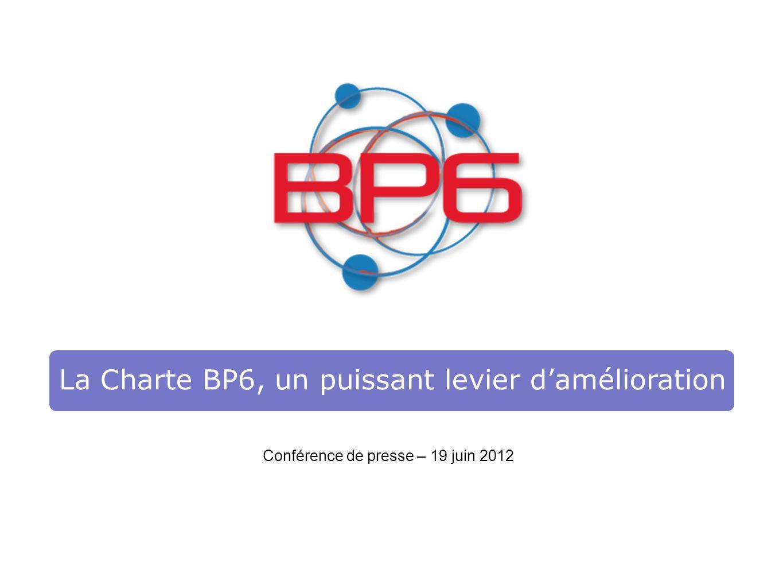 La Charte BP6, un puissant levier damélioration Conférence de presse – 19 juin 2012