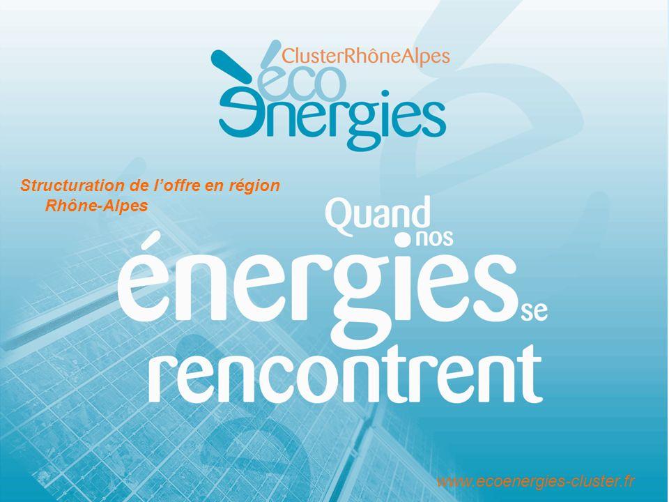 www.ecoenergies-cluster.fr Structuration de loffre en région Rhône-Alpes