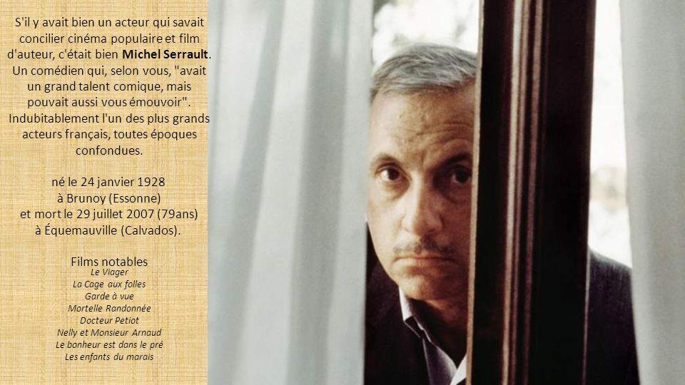 Impayable au côté de Louis de Funès au début de sa carrière au cinéma (L Aile ou la cuisse), Coluche (Michel Colucci) a su vous émouvoir avec retenue dans le film qui lui vaudra un César du Meilleur acteur : Tchao pantin.