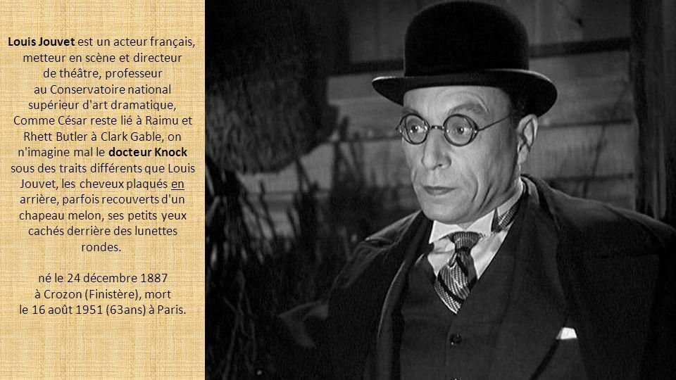 Comédien fétiche de Marcel Pagnol version cinéaste (César, La Femme du boulanger), Raimu (Jules Auguste Muraire ) fait partie avec Gabin, Jouvet et Fernandel de ces monstres sacrés du cinéma français.