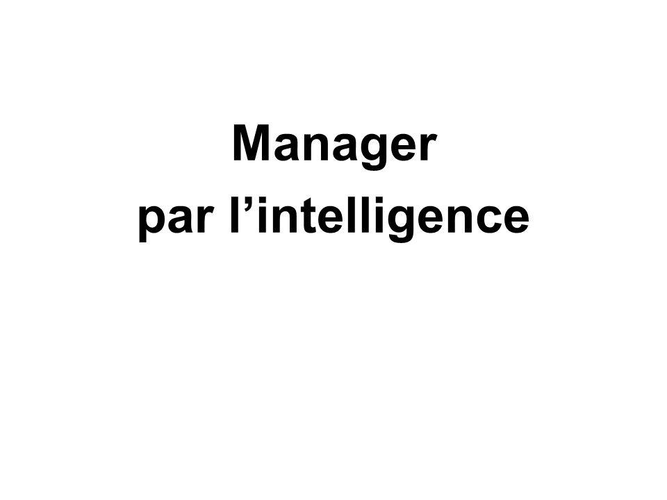 Manager par lintelligence